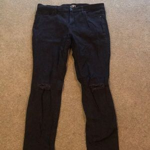 Modern skinny black jeans